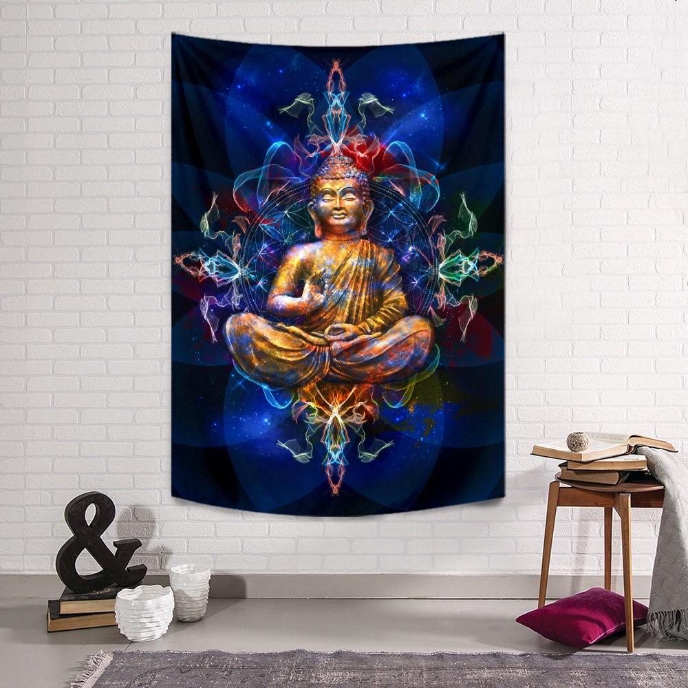 Blue Buddha Duvar Örtüsü