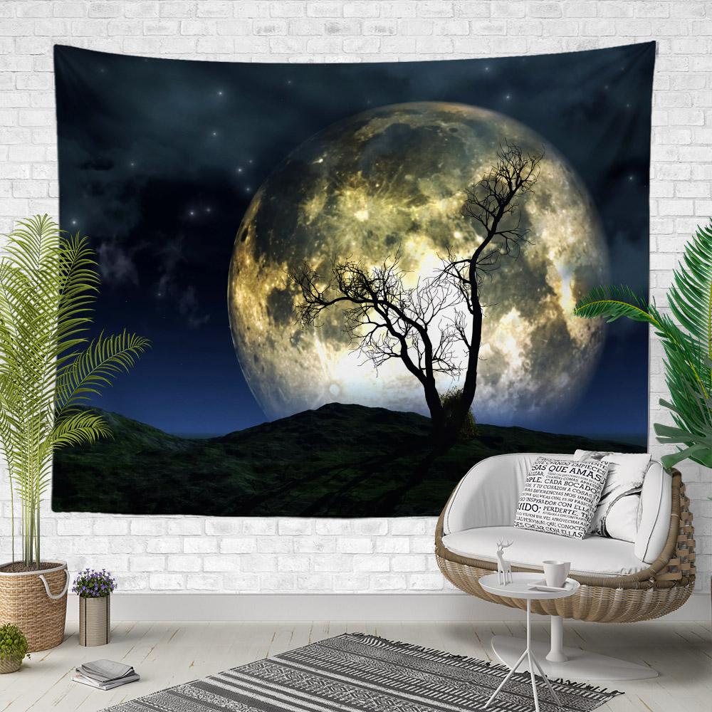 Ay Manzaralı Duvar Örtüsü
