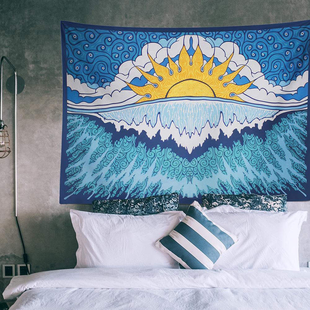 Blue Wave Duvar Örtüsü