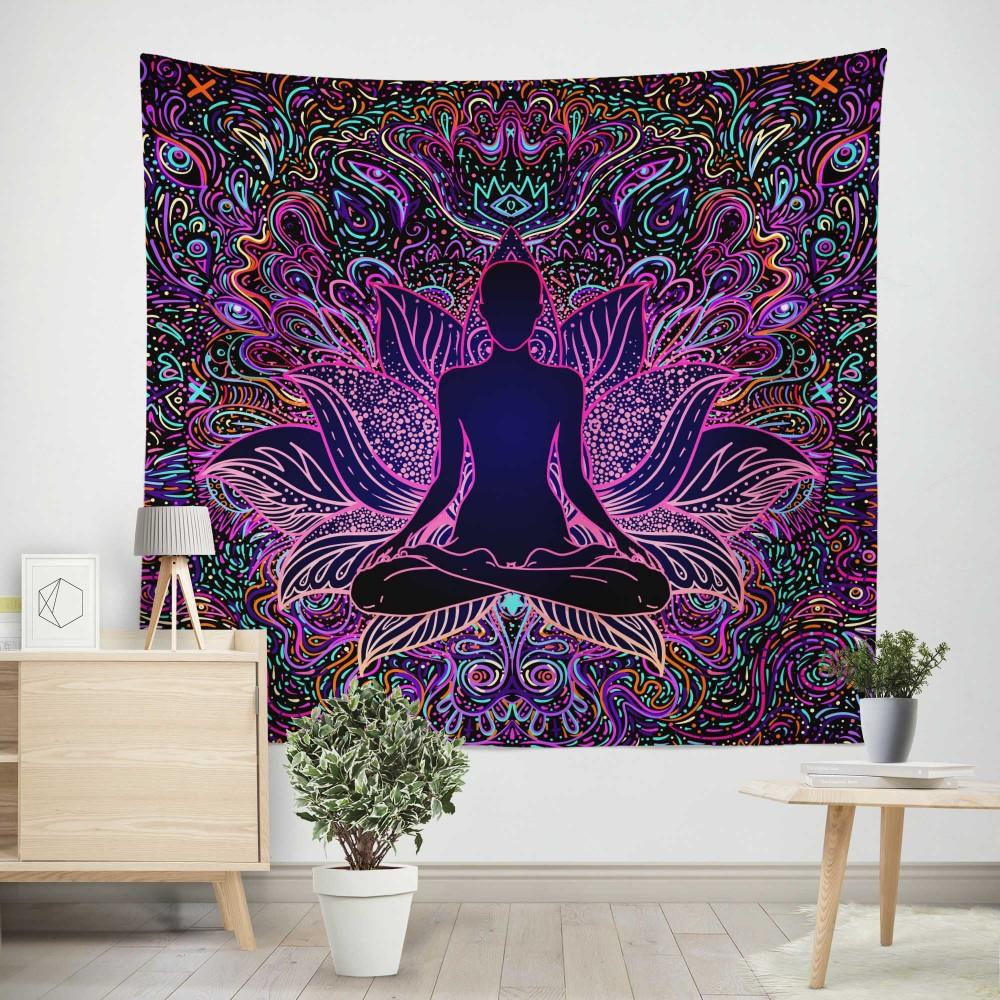 Colorful Yoga Duvar Örtüsü