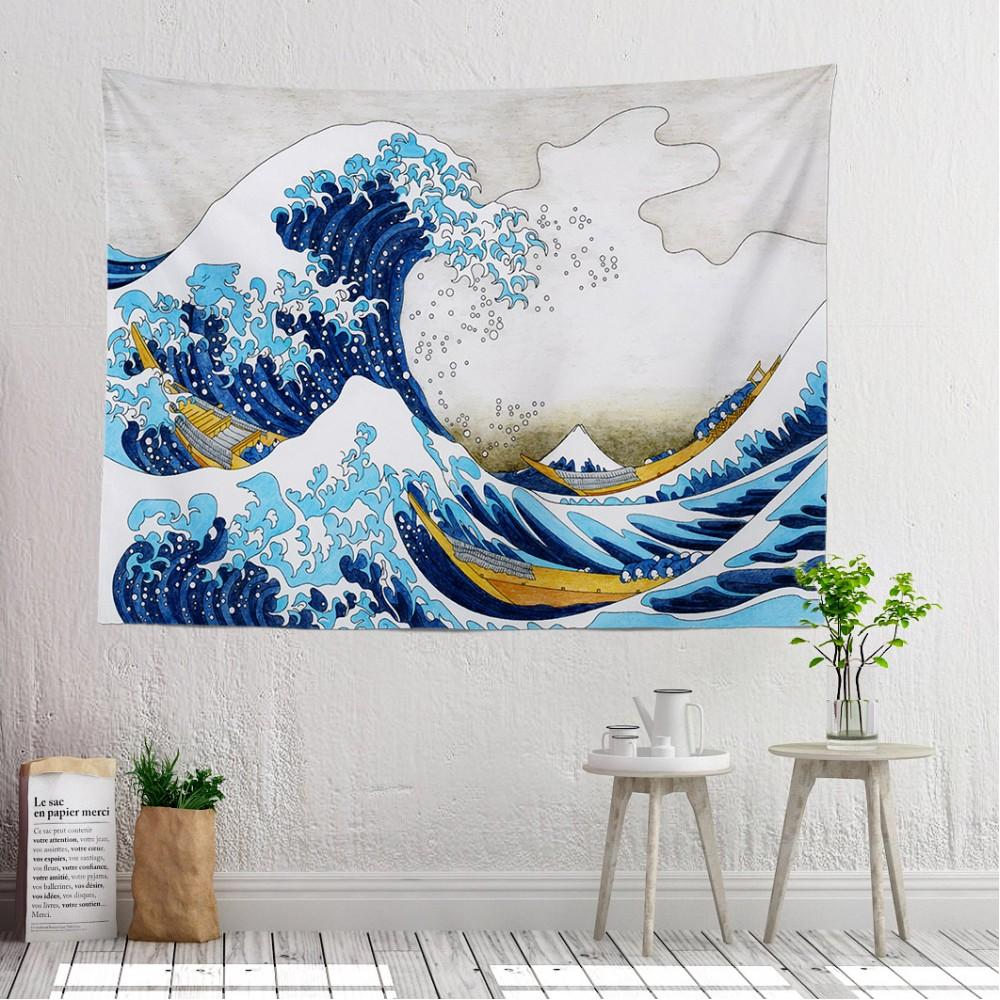 The Great Wave Duvar Örtüsü