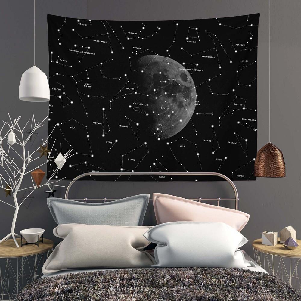 Starry Moon Duvar Örtüsü